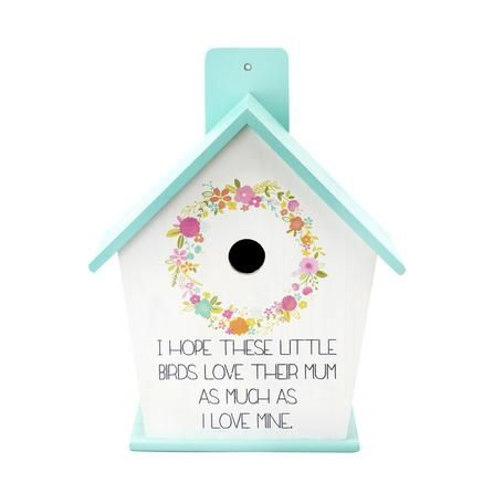 A beautiful bird house with some beautiful words makes a great #MothersDay gift