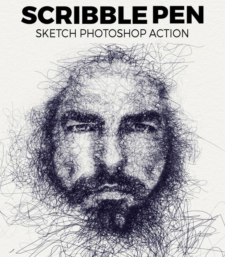 Pencil Drawing Photoshop Action | Abstract photoshop