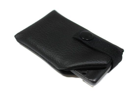 étui carte voiture en faux cuir noir unisexe homme femme