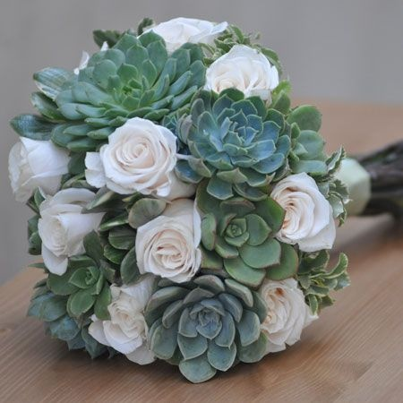 Succulent Bouquet...but with orange and yellow flowers