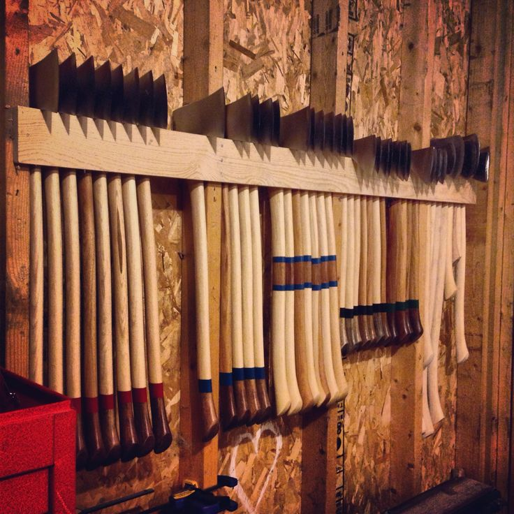 The New Axe Rack In Our Shop Custom Axes Amp Projects