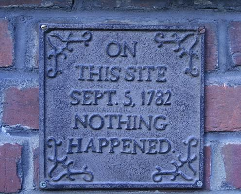 On this site - nothing happened