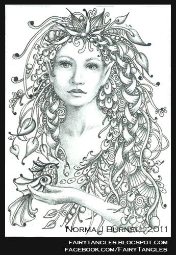 fairy tangles fairy coloring pagesadult
