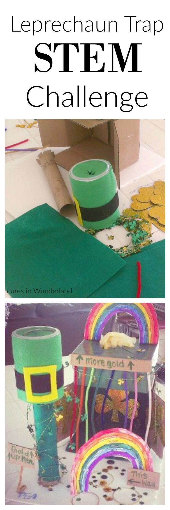 we love this activity!!  Use recycled materials to create a leprechaun trap.  Great STEM challenge for the kids!