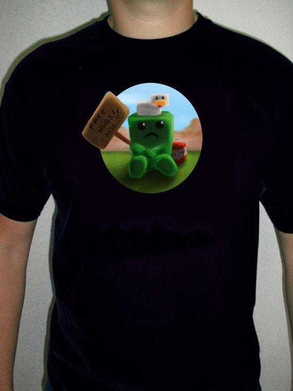 MINECRAFT Funny Creeper Free Hugs Tshirt 3 Years By JMFPrinter 1500