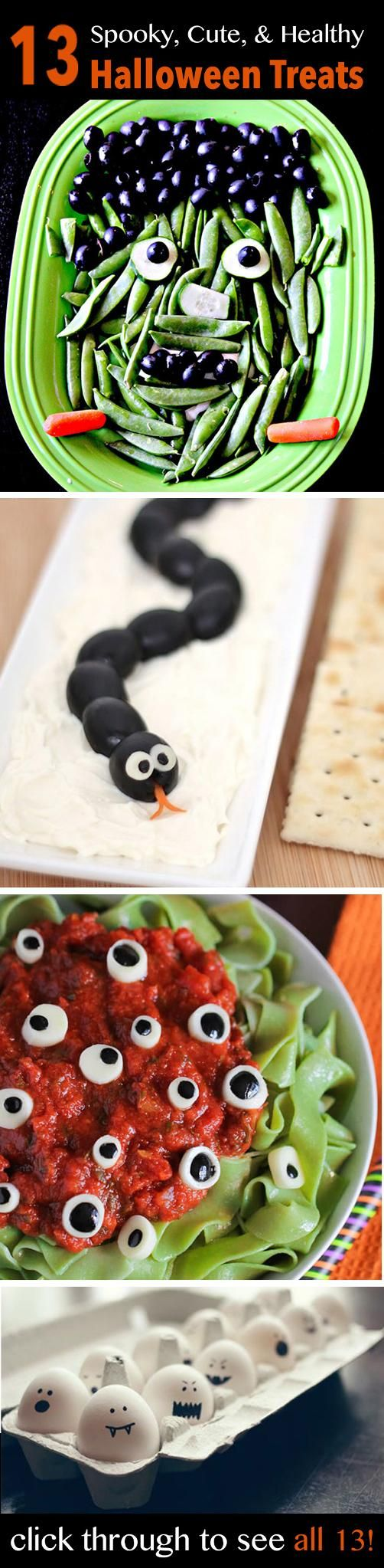 13 Healthy Halloween Treats -- Skip the candy and get into the Halloween spirit with these spooky, cute, and healthy snacks instead! // recipes // healthy recipes // healthy eating // snacks // treats // Halloween recipes // healthy eating // holiday recipes // beachbody // beachbody blog