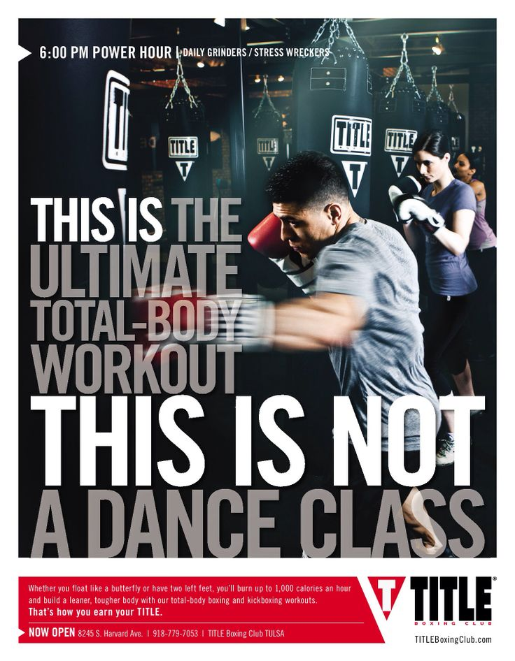 TITLE Boxing Club Tulsa you too can change your life for as little as $2 /day. 918-779-7053.