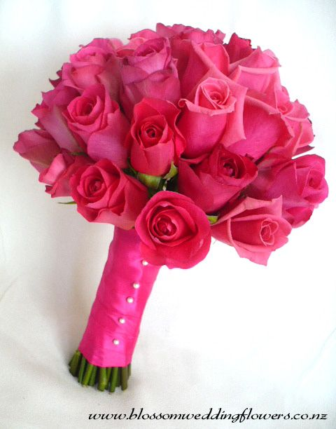 Hot Pink Bridal Bouquets   These very pretty bouquets were for a July Wedding, and what a great ...