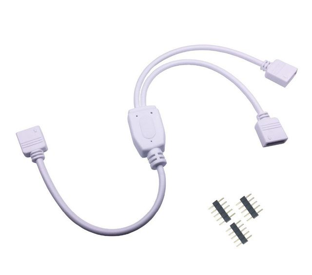 5pin Rgbw Connector Hub 1 To 2 3 4 Port Splitter Female Extension Wire Cable For Smd 5050 Rgbw Rgbww Led Strip With 5 Pin Plugs Review Plugs Led Strip Connectors
