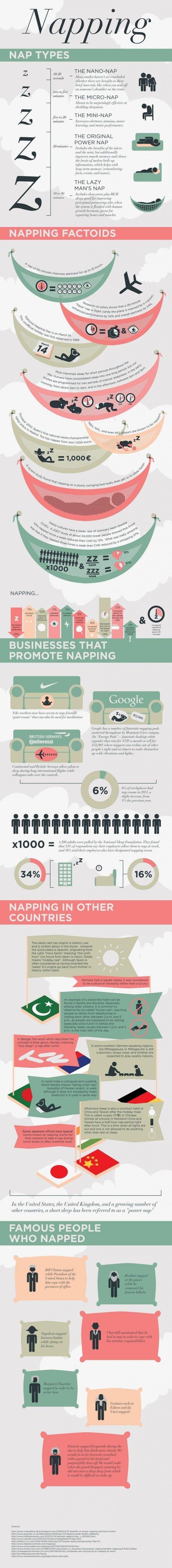 Importancia de tomar una siesta #Infografía