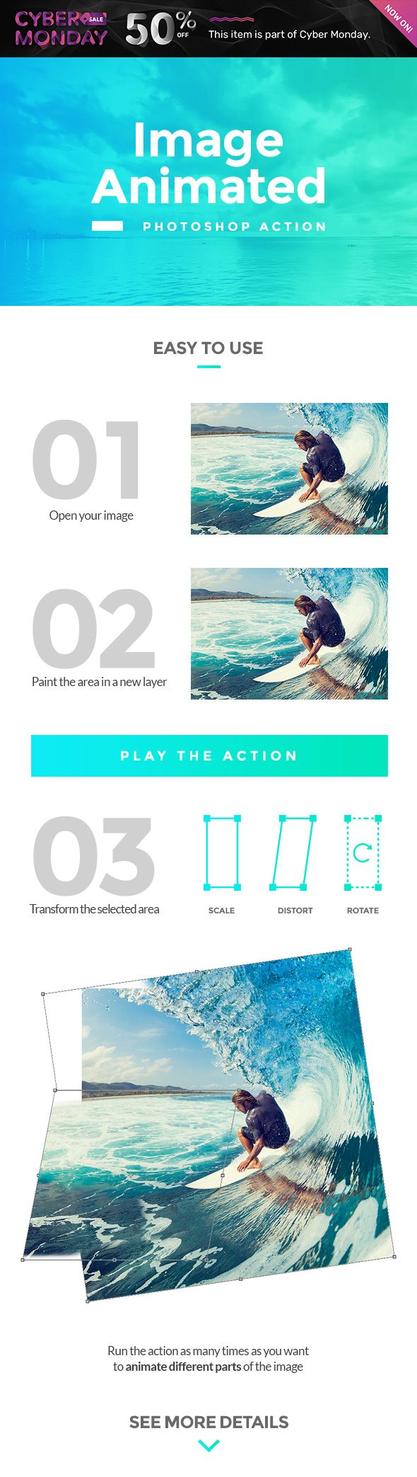 Image Animated #Photoshop Action - Photo Effects #Actions