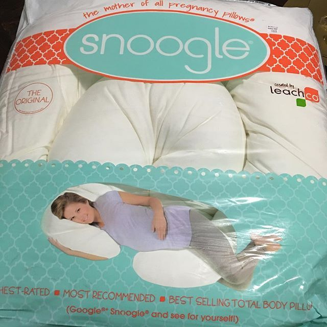 Snoogle®  Best thing to ever happen during my first pregnancy. LOVE! You'll be able to sleep as comfortable as possible. Truly a must