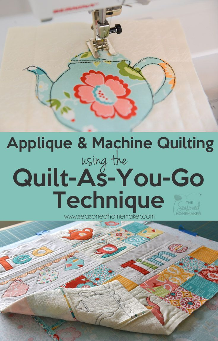 The quilt as you go technique (QAYG) simplifies quilting for beginners because it is an easy way to join quilted pieces by machine. Instead of handling bulky quilts, you will learn to quilt your project as you piece it. Quilt-as-you-go is ideal for machine appliquéd projects and this tutorial will walk you through this easy quilting method. Try it out on a simple mug rug project and you'll be hooked.