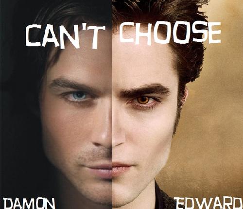 damon or edward.. i like them both - lol!: Challenge, Edward I, Thevampirediaries, My Heart, Hard Decision