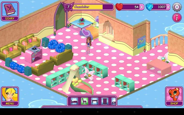 Winx Fairy School dorm by Chandelier