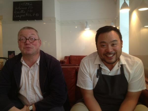 Chef Fergus Henderson and Chef David Chang. Two of the best in the world.