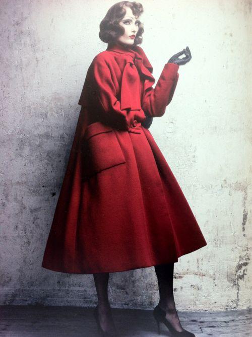 dior par demarchelier coat from 1948