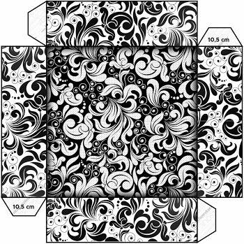 Black and White: Free Printable Boxes.