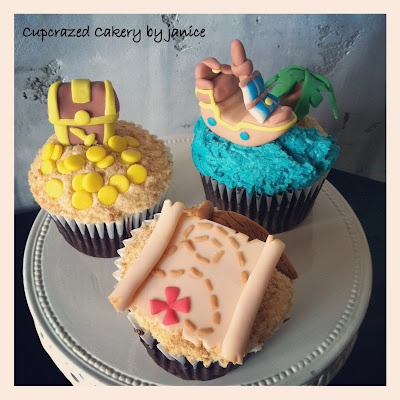 cupcakes for a jake and the neverland pirates themed birthday party