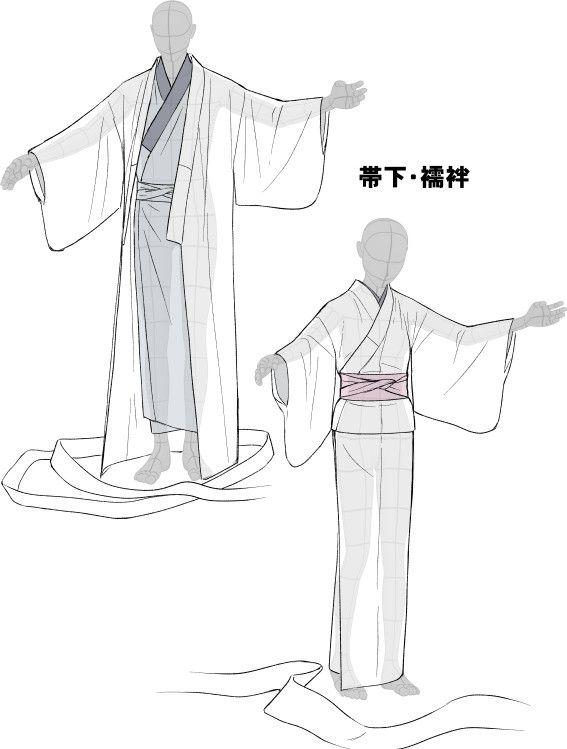 「着物をそれっぽく描くポイント」 [12]