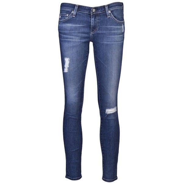 ADRIANO GOLDSCHMIED Legging ankle jean ($225) via Polyvore