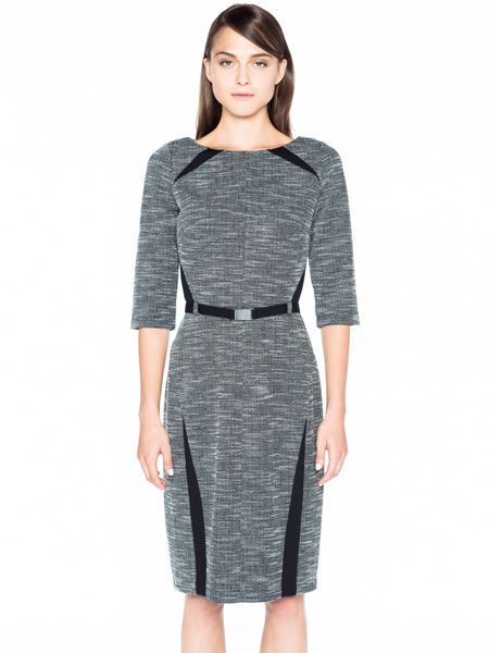 Double Knit Tweed Pencil Dress