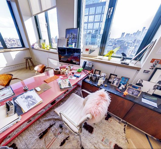 Jenna Lyon's office at J.Crew