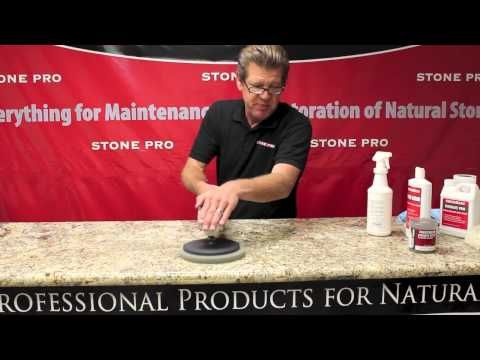 ▶ Stone Pro: How To Polish Granite Countertops - YouTube