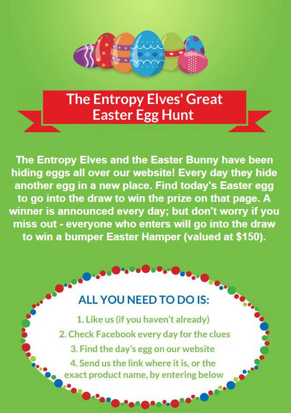 Are you ready to hunt for eggs? #competitions http://www.entropy.com.au/competitions