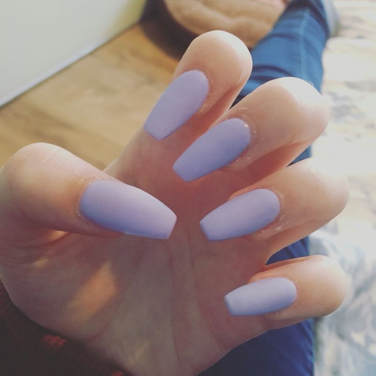 Matte light purple nails ,coffin shaped ️ | Coffin Nails ...