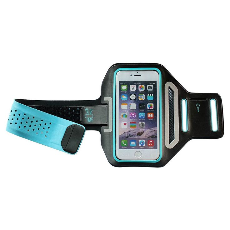 "Iphone 6 Plus, 6S Plus 5.5"" Sports Armband for Running + Fitness Workouts, Card Holder, Earphone connection, Water Resistant, Adjustable, Screen Cover 100% Touch Sensitive By Foxx Electronics (Blue). A durable, safe and effective way to comfortably carry your Iphone 6 Plus 5.5 Inch or Iphone 6S Plus 5.5 Inch phone and listening to music while you exercise, the water resistant and sweat resistant case will keep your iPhone dry!. Perfect fit for the Apple Iphone 6+ 5.5"" or iPhone 6S+ 5.5""..."