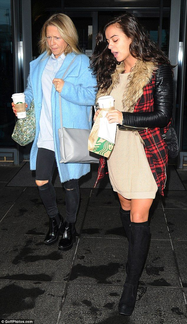 Caffeine queens: Georgia was joined by fellow Strictly hopeful and EastEnders actress Kellie Bright and the pair stocked up on Starbucks before heading to the studio