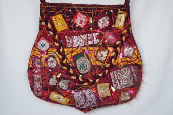 Multicolour bag silk bag vibrant large size bag by bokrisztina
