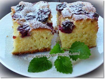 Gizi-receptjei. Várok mindenkit.: Joghurtos-meggyes sütemény.