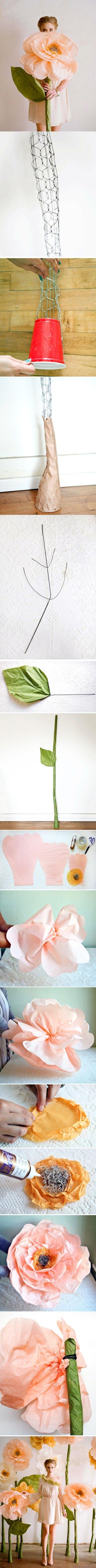 Duże kwiaty - krok po kroku