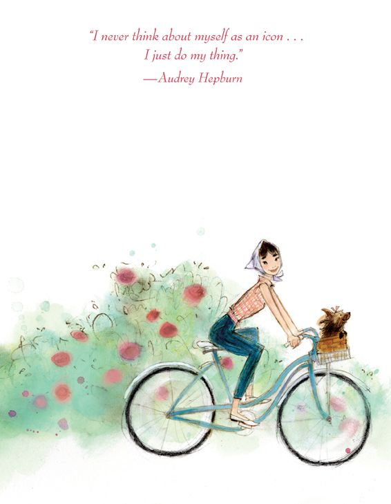 """Just Being Audrey""  ~~  Illustrations by ~Julia Denos~"