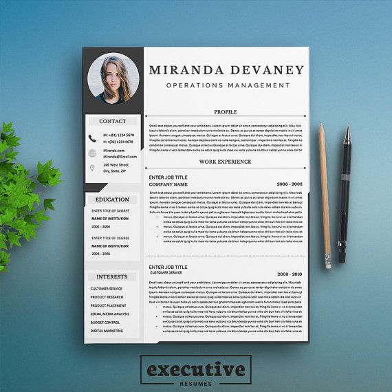 12 best Resume \/ CV Templates images on Pinterest Curriculum, Cv - resume template executive