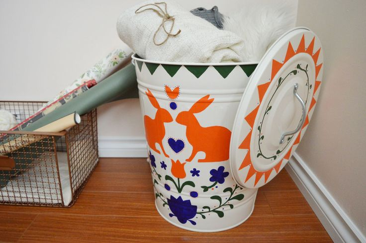 Scandinavian Trash Can DIY || Oh Lovely Bows