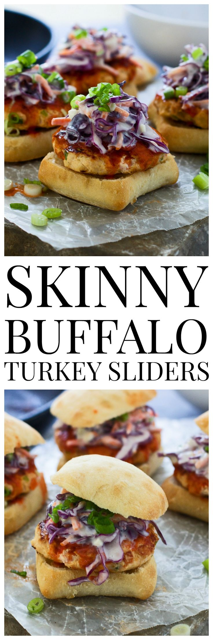 Skinny Buffalo Turkey Sliders - So much flavor, and super healthy! #inspiredgathering #spon