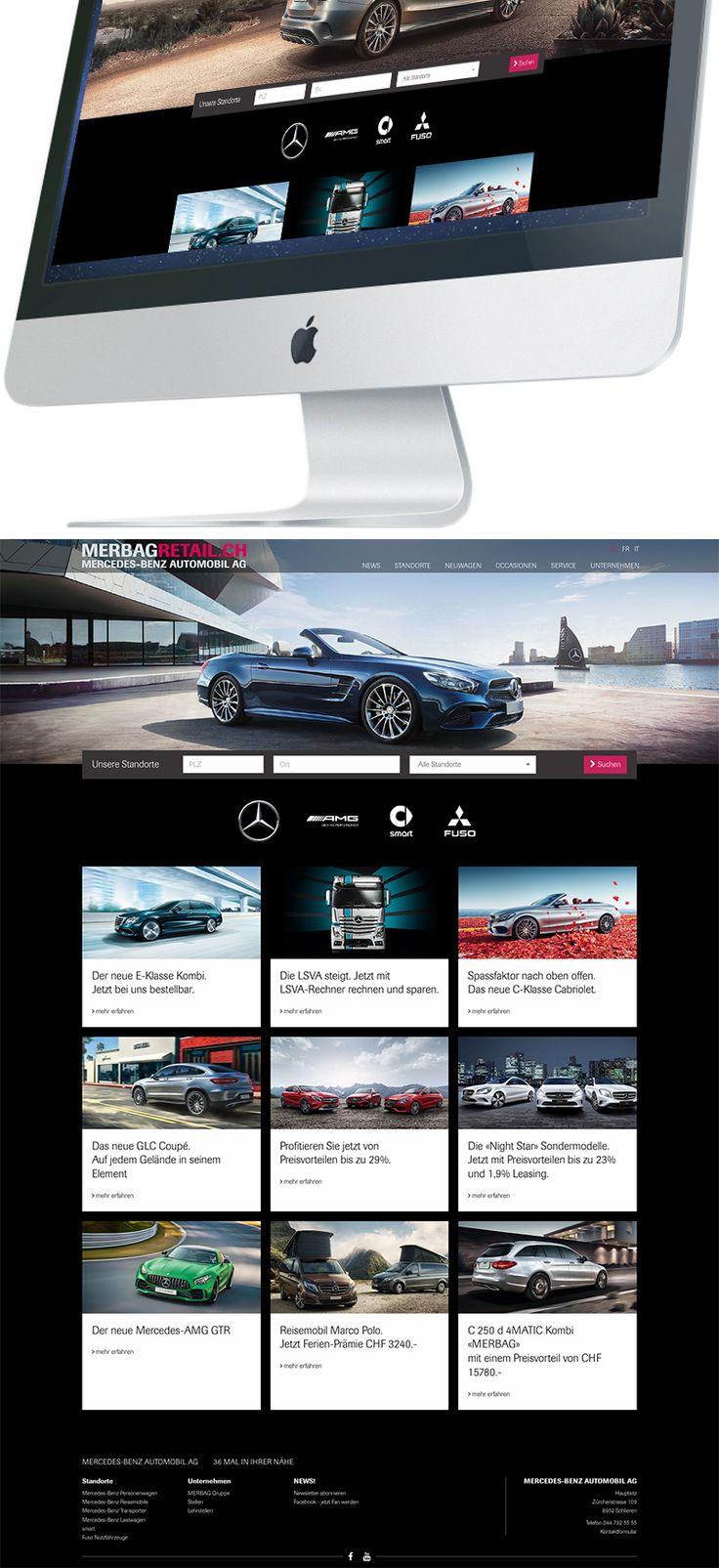 Kunde: Mercedes-Benz Automobil AG | Branche: Automotiv | Werbemittel: Responsive-Website Design | Erscheinung: einmalig | Umfang: Design