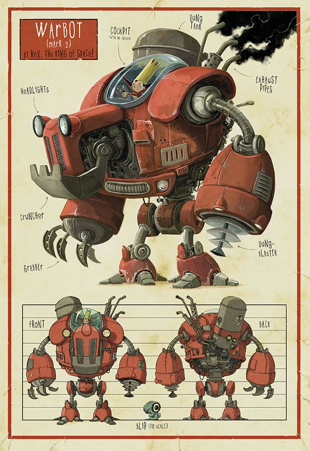 Warbot from Rex, King of Space - Jonny Duddle