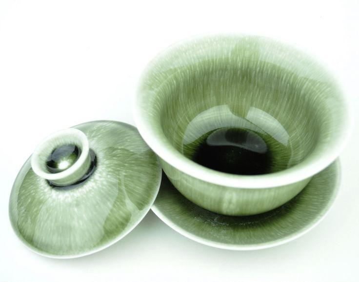 Green Plasma Ceramic Gaiwan for Gong Fu Tea 150ml