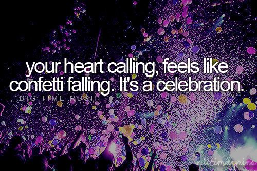 Confetti Falling - Big Time Rush