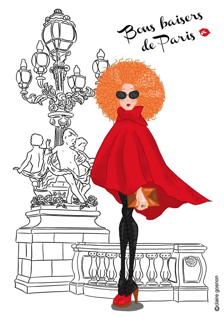 Les 16 meilleures images du tableau illustrations - Dessin parisienne ...