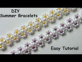 DIY Summer bracelets. Bracelet making tutorial - YouTube