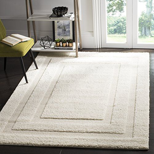 Safavieh Shadow Box Shag Collection Cream Square Area Rug 5 Square ***  Visit The Image Link More Details.
