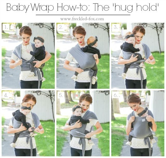 The Freckled Fox: Classic Baby Wrap How-To + A Happy Baby Wrap Giveaway!