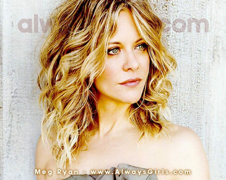 Meg Ryan shoulder length curls