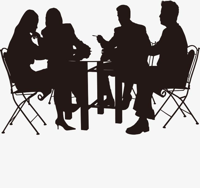 The People Who Meet Together Meeting Clipart People Vector Black Png And Vector With Transparent Background For Free Download Silhouette People People Png People