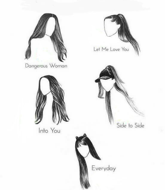 hairstyles through the videos